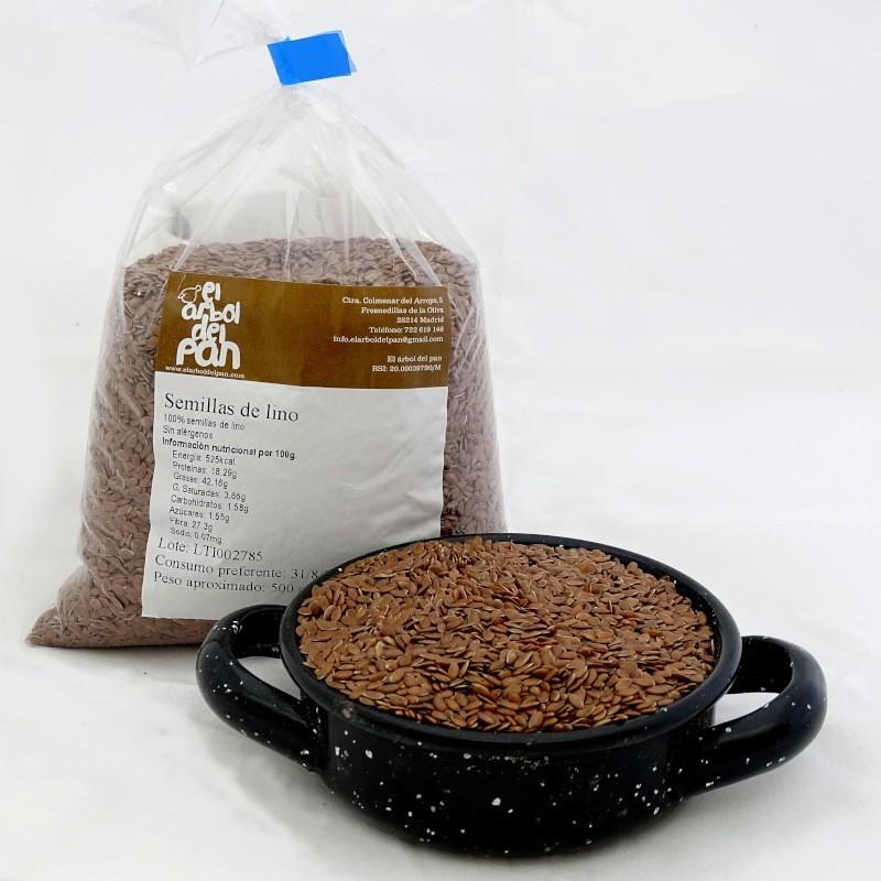 Semillas de lino marrón 500 gramos