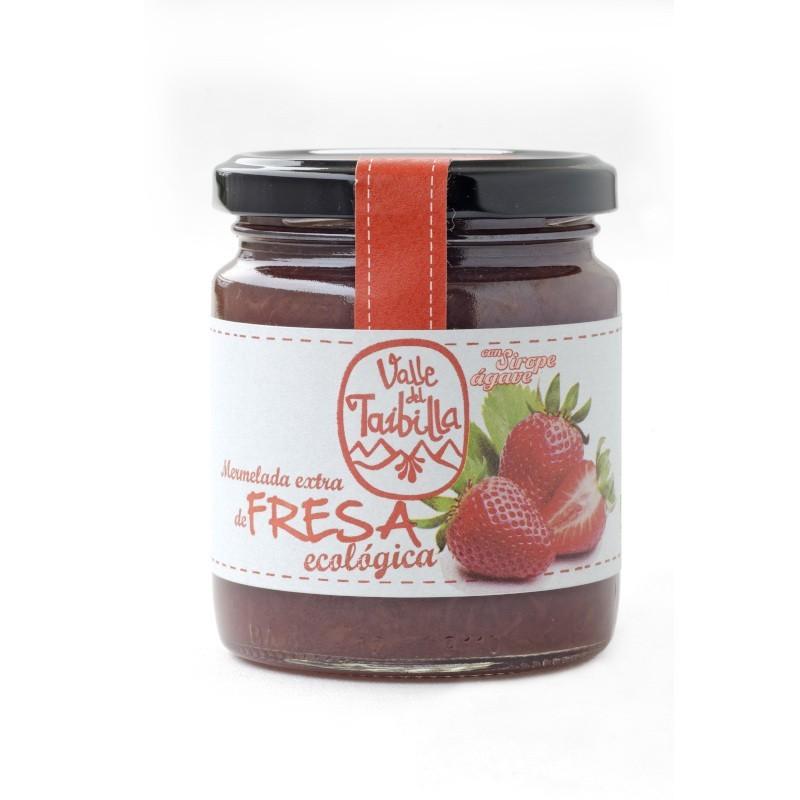 Mermelada extra de fresa con ágave...