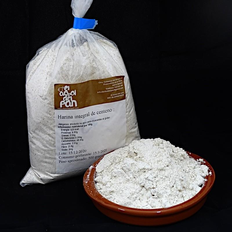 Harina integral de centeno 500 gramos